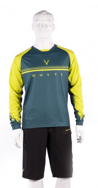 Trail MTB Long Sleeve Green Jersey